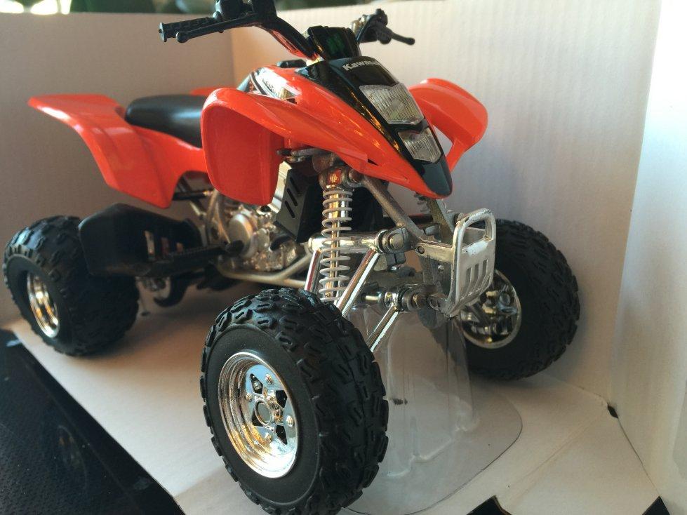 1/12 scale Orange Kawasaki kfx400 kfx 400 Die Cast Metal model atv ...